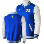 Veste En Laine Golden State Warriors NO.35 Kevin Durant Bleu