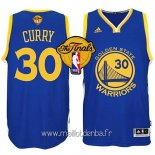 Maillot Golden State Warriors Finales No.30 Curry Bleu