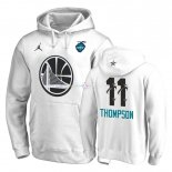 Hoodies 2019 All Star Golden State Warriors NO.11 Klay Thompson Blanc