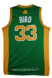 Maillot Boston Celtics No.33 Larry Joe Bird Vert Orange