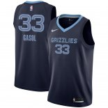 Maillot Memphis Grizzlies Nike NO.33 Marc Gasol Marine Icon 2018/2019