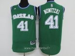 Maillot Dallas Mavericks No.41 Dirk Nowitzki Vert