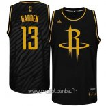 Maillot Houston Rockets Metales Mode Précieux No.13 Harden Noir
