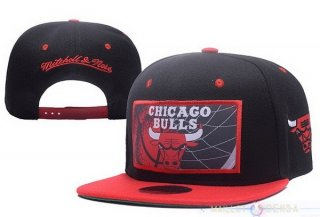 Snapbacks Caps 2017 Chicago Bulls Rouge Noir NO.02