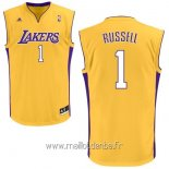 Maillot L.A.Lakers No.1 D'Angelo Russell Jaune