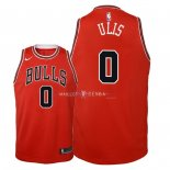 Maillot Enfants Chicago Bulls NO.0 Tyler Ulis Rouge Icon 2018