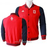 Veste En Laine Houston Rockets No.13 James Harden Rouge