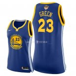 Maillot Femme Golden State Warriors NO.23 Draymond Green Bleu Icon Patch Finales Champions 2018
