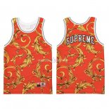 Maillot Collaboration Maillot Basket-ball Supreme x Nike Air Foamposite Rouge