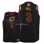 Maillot Enfants Cleveland Cavaliers Finales Champions 2018 NO.3 George Hill Noir Statement Patch