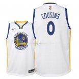 Maillot Enfants Golden State Warriors NO.0 DeMarcus Cousins Blanc Association 2018
