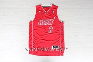 Maillot Miami Heat 2012 Noël No.3 Wade Rouge