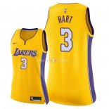 Maillot Femme Los Angeles Lakers NO.3 Josh Hart Jaune Icon 2018