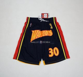 Pantalone Golden State Warriors 2018 Finales Champions NO.30 Stephen Curry Noir