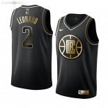 Maillot Los Angeles Clippers Nike NO.2 Kawhi Leonard Noir Or