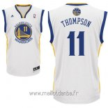 Maillot Golden State Warriors No.11 Klay Thompson Blanc