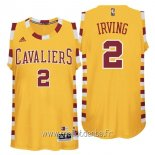 Maillot Cleveland Cavaliers No.2 Kyrie Irving Jaune Dentelle
