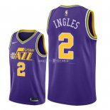 Maillot Utah Jazz Nike NO.2 Joe Ingles Retro Pourpre 2018