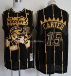 Maillot Toronto Raptors NO.15 Vince Carter Retro Or Noir 1998/99
