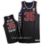 Maillot 2015 All Star No.35 Kevin Durant Noir