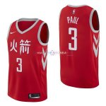 Maillot Houston Rockets Nike NO.3 Chris Paul Nike Rouge Ville