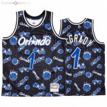 Maillot NBA Orlando Magic Tear Up Pack NO.1 Tracy Mcgrady Bleu Hardwood Classics