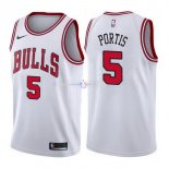 Maillot Chicago Bulls Nike NO.5 Bobby Portis Blanc Association