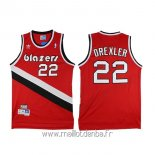 Maillot Portland Trail Blazers No.22 Clyde Drexler Rouge