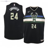 Maillot Enfants Milwaukee Bucks NO.24 Pat Connaughton Noir Statement 2019/2020