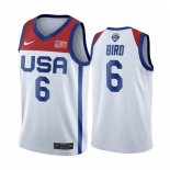 Maillot 2020 Jeux Olympiques Tokyo USMNT NO.6 Sue Bird Blanc