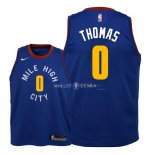 Maillot Enfants Denver Nuggets NO.0 Isaiah Thomas Bleu Statement 2018-19