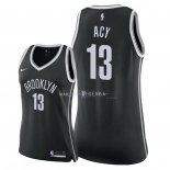 Maillot Femme Brooklyn Nets NO.13 Quincy Acy Noir Icon 2018