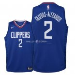Maillot Enfants Los Angeles Clippers NO.2 Shai Gilgeous Alexander Bleu Icon 2018