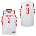 Maillot Enfants Houston Rockets No.3 Chris Paul Blanc Association 2017/2018