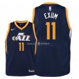 Maillot Enfants Utah Jazz NO.11 Dante Exum Marine Icon 2018