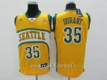 Maillot Seattle Supersonics No.35 Kevin Durant Jaune