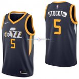 Maillot Utah Jazz Nike NO.5 David Stockton Marine Icon