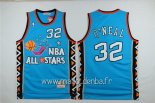 Maillot 1996 All Star No.32 Shaquille O'Neal Bleu