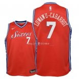 Maillot Enfants Philadelphia Sixers NO.7 Timothe Luwawu Cabarrot Rouge Statement 2018