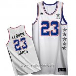 Maillot 2015 All Star No.23 LeBron James Blanc