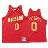 Maillot NBA CNY Throwback Huston Rockets NO.0 Russell Westbrook Rouge 2020