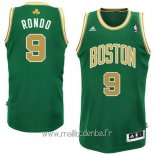 Maillot Boston Celtics No.9 Rajon Rondo Vert Or