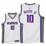 Maillot Enfants Sacramento Kings NO.10 Frank Mason III Blanc Association 2018