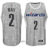 Maillot Washington Wizards Ville Lumières No.2 Wall Gris