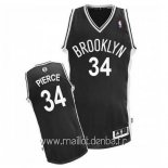 Maillot Brooklyn Nets No.34 Paul Pierce Noir