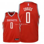 Maillot Enfants Houston Rockets NO.0 Marquese Chriss Rouge Icon 2018