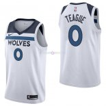 Maillot Minnesota Timberwolves Nike NO.0 Jeff Teague Blanc Association