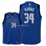 Maillot Enfants Dallas Mavericks NO.34 Devin Harris Bleu Icon 2018