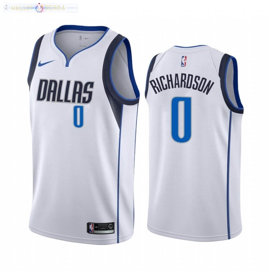 Maillot Dallas Mavericks Nike NO.0 Josh Richardson Blanc Association 2020-21