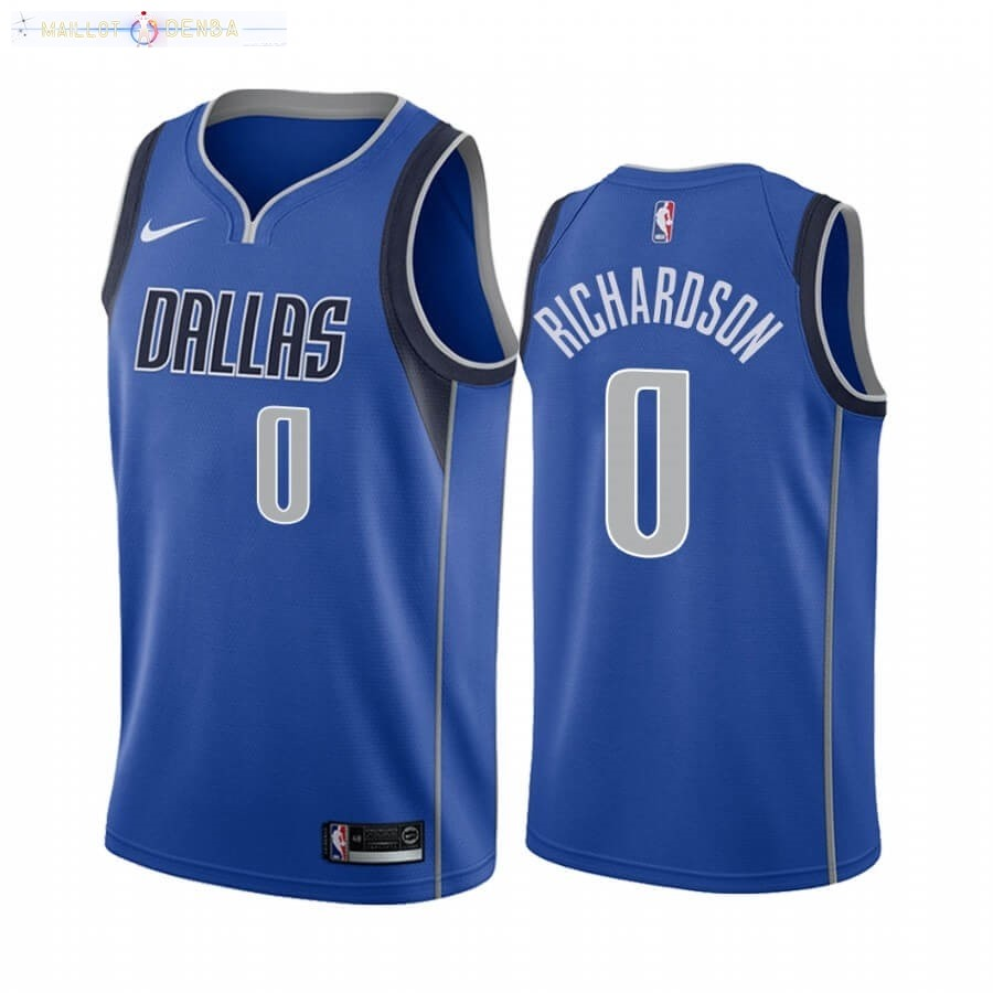 Maillot Dallas Mavericks Nike NO.0 Josh Richardson Bleu Icon 2020-21